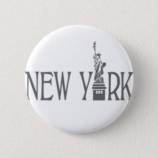 New York 2 Inch Round Button