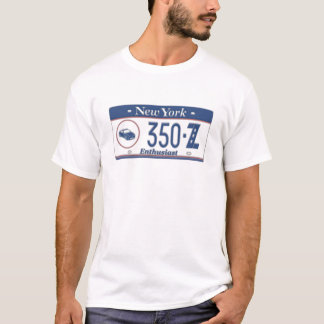 New York 350Z Enthusiast License Plate T-Shirt