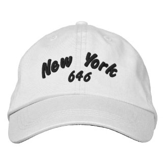 New York 646 area code. Embroidered Hat