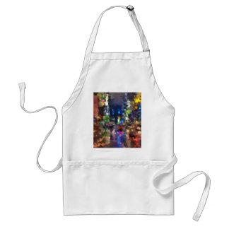 new york abstract street city night rain standard apron