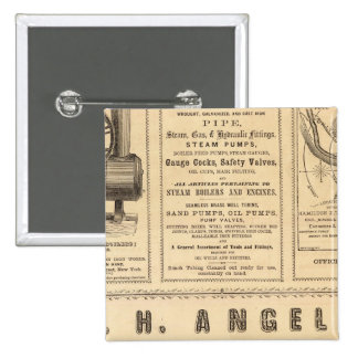 New York Advertisements 2 Inch Square Button