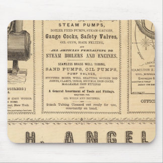 New York Advertisements Mouse Pads