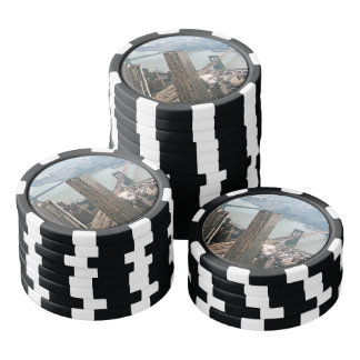 New York aerial view Poker Chips