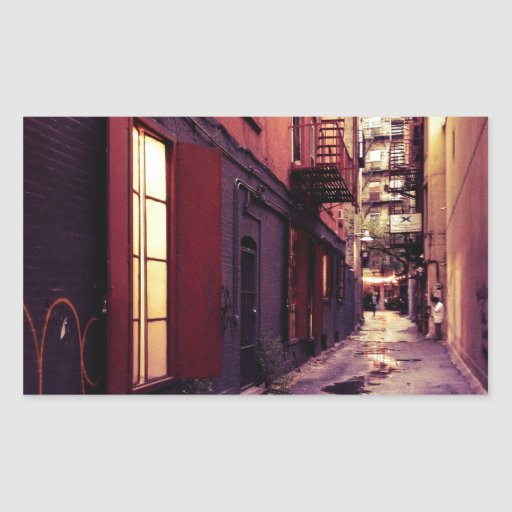New York Alley Rectangular Sticker