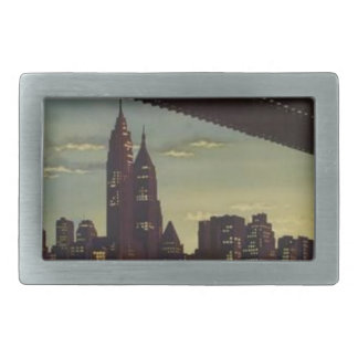 New York Always Exciting Rectangular Belt Buckle