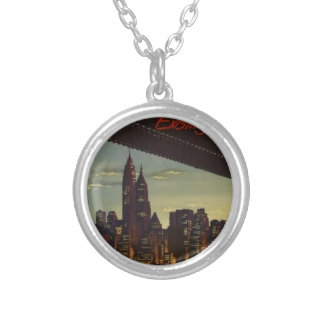 New York Always Exciting Silver Plated Necklace