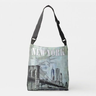 New York art crossbody bag Manhattan bridge NYC