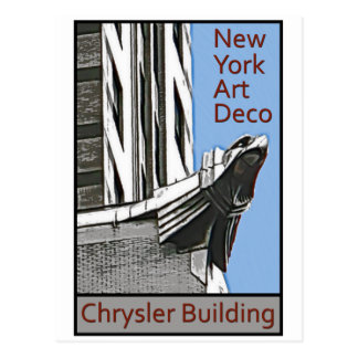 New York Art Deco - Chrysler Building Eagle Postcard