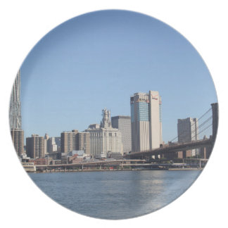 New York as melamine plates
