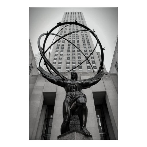 NEW YORK ATLAS POSTER