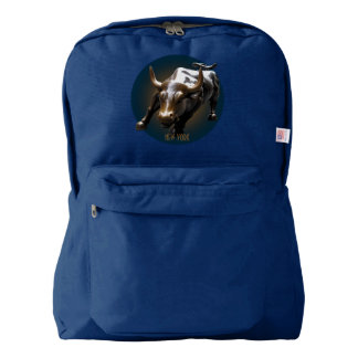 New York Backpack Bull Statue New York Bags Custom
