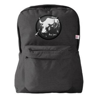 New York Backpack Bull Statue New York Bags Custom