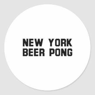 New York Beer Pong Classic Round Sticker