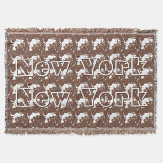 New York Blanket NYC Bull Statue Souvenir Blanket