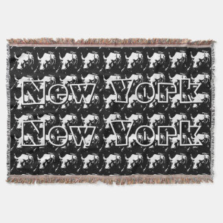New York Blanket NYC Bull Statue Souvenir Blanket Throw Blanket