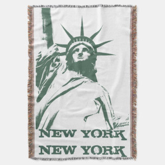 New York Blanket NYC Statue of Liberty Blanket
