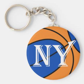 new york blue orange basketball keychain