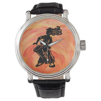New York Boogie Nights Drum Orange Watch