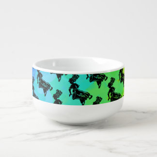 New York Boogie Nights Drum Rainbow Soup Bowl With Handle