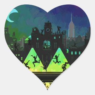 New York Boogie Nights Heart Sticker