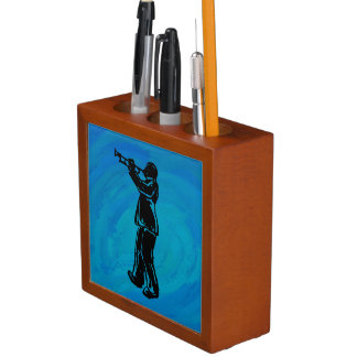 New York Boogie Nights Trumpet Blue Pencil Holder