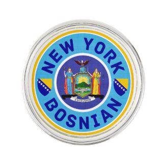 New York Bosnian American Lapel Button Lapel Pin