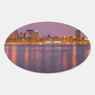 New York Brooklyn At Night Sticker