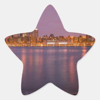 New York Brooklyn At Night Star Stickers