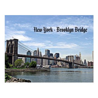 New York - Brooklyn Bridge Postcard