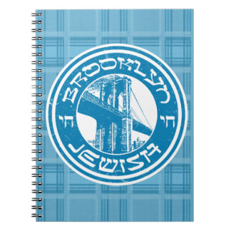 New York Brooklyn Jewish Notepad Spiral Notebook