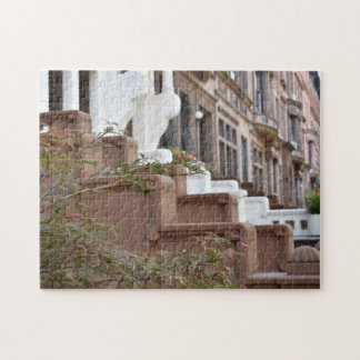 New York Brownstones Upper West Side Buildings NYC Jigsaw Puzzle