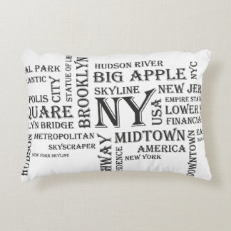 "New York Brushed Polyester Accent Pillow 16"" x 12"""
