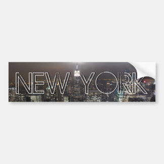 New York Bumper Sticker NY City Bumper Sticker