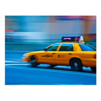 New York Cab Postcard