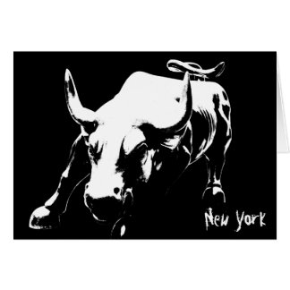 New York Card New York Bull Souvenir Card