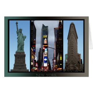 New York Card New York Souvenir Card Landmarks