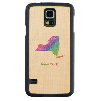 New York Carved Maple Galaxy S5 Case