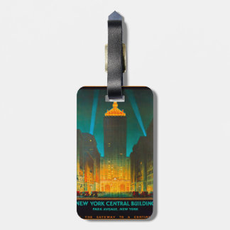 New York Central Building Luggage Tag
