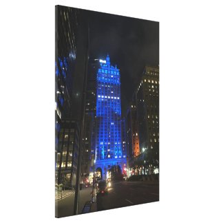 New York Central Building NYC Park Avenue Night Canvas Print