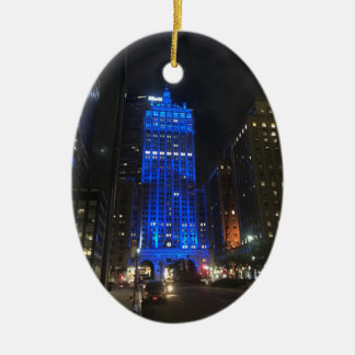 New York Central Building NYC Park Avenue Night Ceramic Ornament