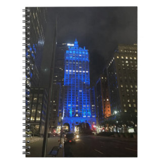 New York Central Building NYC Park Avenue Night Notebook