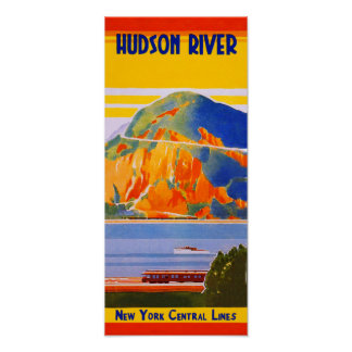 New York Central Railroad, Hudson River Poster