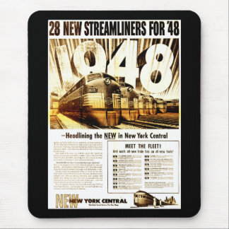 New York Central Streamliners 1948 Mousepad