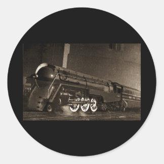 New York Central Vintage Art  Deco Train Round Sticker