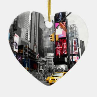 New York Ceramic Heart Ornament