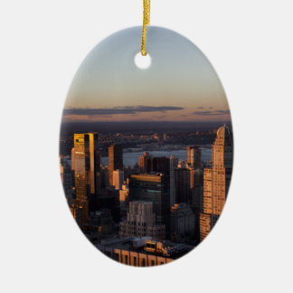 New York Ceramic Oval Ornament