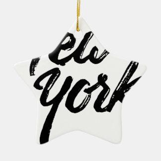 New York Ceramic Star Ornament