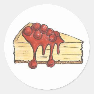 New York Cherry Cheesecake Cheese Cake Stickers