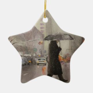 New York Chill Ceramic Star Ornament