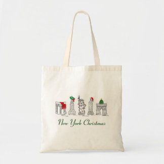 New York Christmas NYC Architecture Holiday Tote